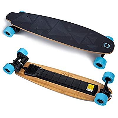 Motion 38 Inches Electric Skateboard and Longboard with Remote Controller Bamboo Deck 23 MP/H Top Speed 10 Miles Range